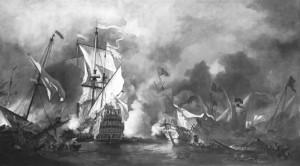 Willem van de Velde the Younger (circa 1672). sailingwarships.com