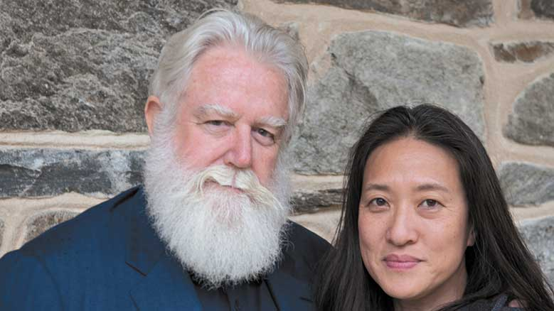 James Turrell and his wife, Kyung-Lim Lee