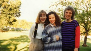 The author (center) with her sister Bonnie (left) and mother. Photo taken a few months before Bonnie's death. Photo courtesy of the author.